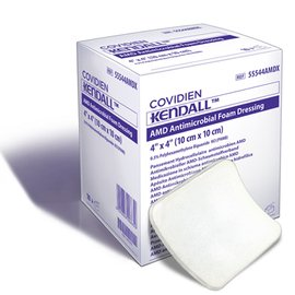 COVIDIEN/MEDICAL SUPPLIES AMD ANTIMICROBIAL FOAM DRESSING COV/55544AMD
