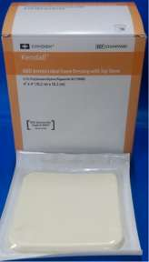 COVIDIEN/MEDICAL SUPPLIES AMD ANTIMICROBIAL FOAM DRESSING COV/55544PAMD