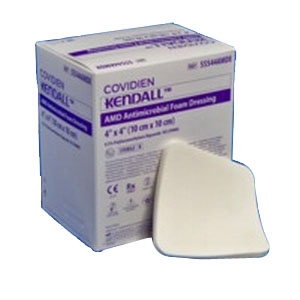 COVIDIEN/MEDICAL SUPPLIES AMD ANTIMICROBIAL FOAM DRESSING COV/55566AMD