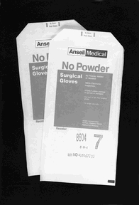 ANSELL NO POWDER STERILE LATEX SURGICAL GLOVES - SIZE 9 GLOVES, 8608