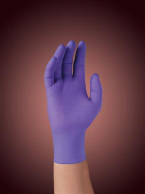 KIMBERLY-CLARK SAFESKIN PURPLE NITRILE EXAM GLOVES - SMALL GLOVE 55081