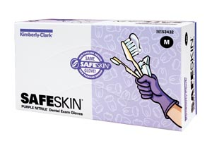 KIMBERLY-CLARK SAFESKIN PURPLE NITRILE DENTAL EXAM GLOVES - GLOV 53432