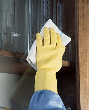 "ANSELL HOUSEKEEPING GLOVES - MEDIUM GLOVES, 12"" LENGTH, 1 PR/PKG 8986"
