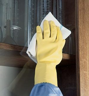 "ANSELL HOUSEKEEPING GLOVES - LARGE GLOVES, 12"" LENGTH, 1 PR/PKG, 8988"